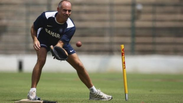 Mentor: Paddy Upton during his time with the Indian cricket team in 2008.
