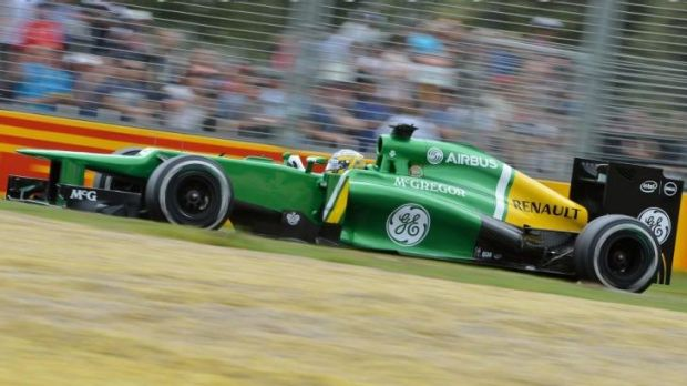 Caterham were regularly running at the back of the field.