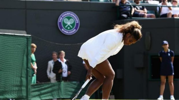 Staggering: Serena Williams and her sister Venus could barely win a point.