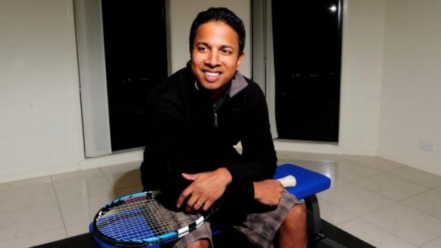 Chinthaka Wickramaratna, of Franklin, who was 25 when he was beaten by an 11-year-old  Nick Kyrgios.