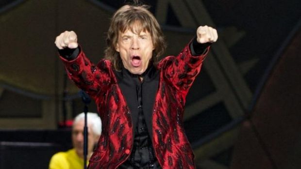 Red Y-fronts ... Mick Jagger's pants go on display.