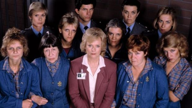 The cast of the TV drama <i>Prisoner</i>.