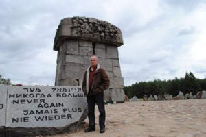 A rock and a hard place: Andrew Denton at the memorial built at Treblinka between 1959 and 1963 to pay tribute to the ...