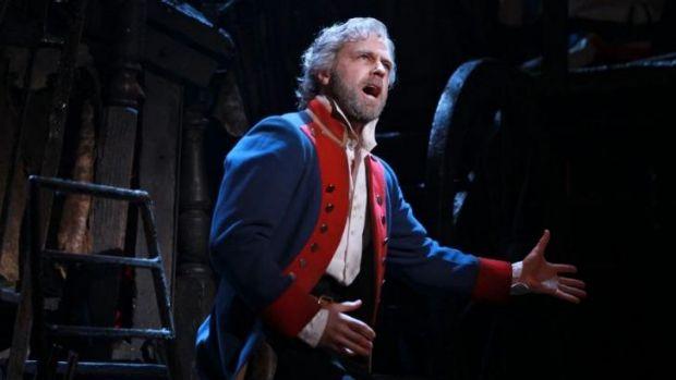 Simon Gleeson in <i>Les Miserables</i>.