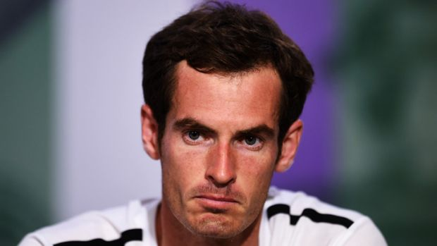 Beaten: Andy Murray.