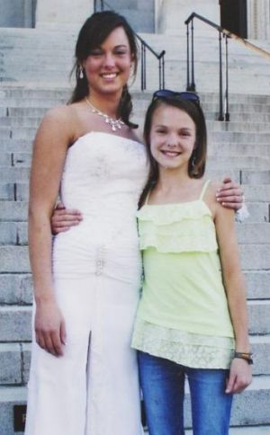 Sarah Jones, left, on the day of her high school prom with her sister Rebecca. The 27-year-old camera assistant, was ...