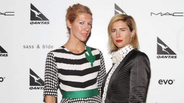Designers Heidi Middleton and Sarah-Jane Clarke backstage at their last sass & bide fashion show at New York Fashion ...