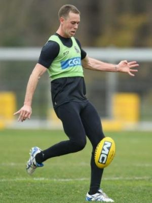 Nick Maxwell during a training session on July 1.