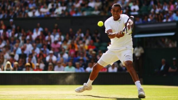 Big future?: Rising Australian tennis player Nick Kyrgios.