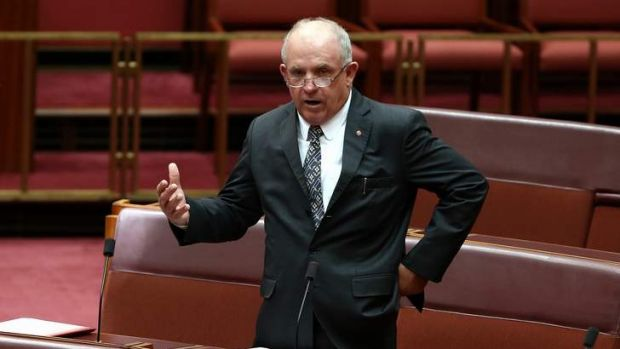 """Anyone who is robbing with a pen needs to be looked at"": Senator John Williams."