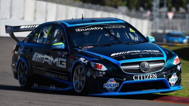 Hot up north: Lee Holdsworth took his Erebus Motorsport Mercedes to the fastest lap in Friday's practice sessions.