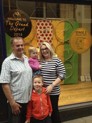 Pride: Kirkham's descendants in York for stage two of the Tour de France.
