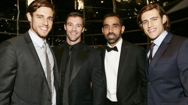 Time for Rolex: (From left to right) Jordan Stenmark, Kris Smith, Adam Goodes and Zac Stenmark.