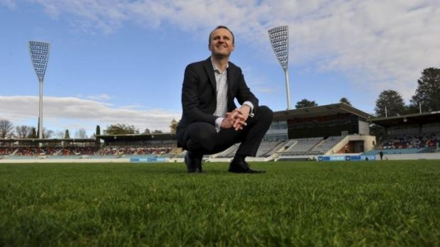 Andrew Barr wants sporting infrastructure to be his lasting legacy to the ACT.