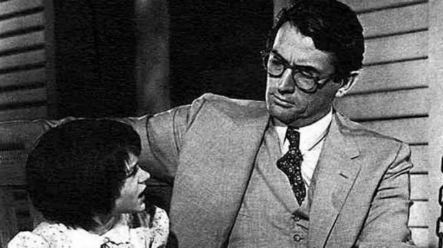 Inspirational: Gregory Peck as lawyer Atticus Finch in the 1962 adaption of <i>To Kill a Mockingbird</i>.