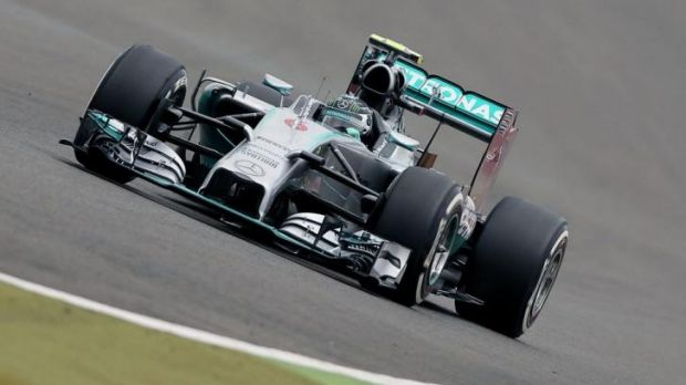 On the level: Nico Rosberg took pole at the British Grand Prix.
