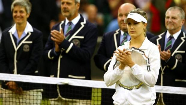 Eugenie Bouchard of Canada apologised to her fans for