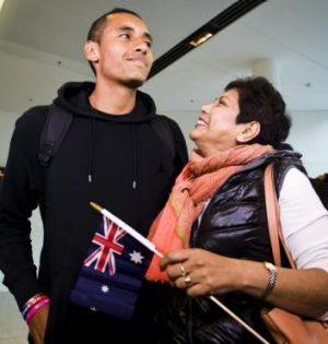 Proud mum Nill and her son Nick Kyrgios.