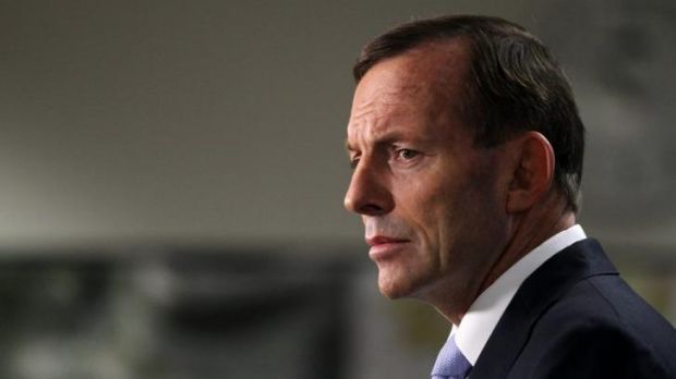 Struggling: Tony Abbott.