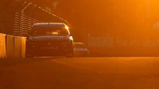 Time in the sun: Jamie Whincup shone in Townsville.