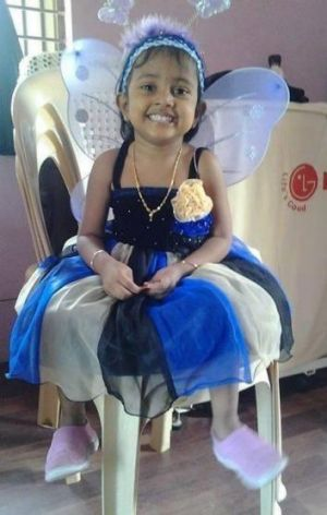 Febrina, 3, was on a boat of 153 asylum seekers that has gone missing en route to Australia.