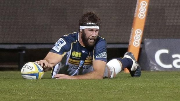 """It's a playoff game for us already"": Brumbies lock Leon Power."