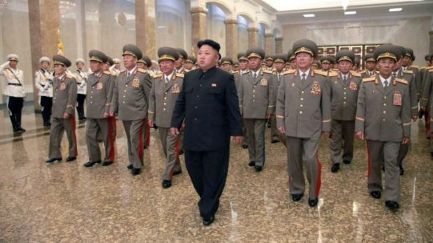 North Korean leader Kim Jong-un visits the Kumsusan Palace of the Sun at midnight on Tuesday on the occasion of the 20th ...