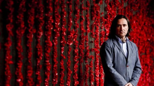 Scottish historian Neil Oliver at the Australian War Memorial.