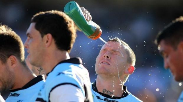 Career in tatters: Ex-Sharks five-eighth Todd Carney.