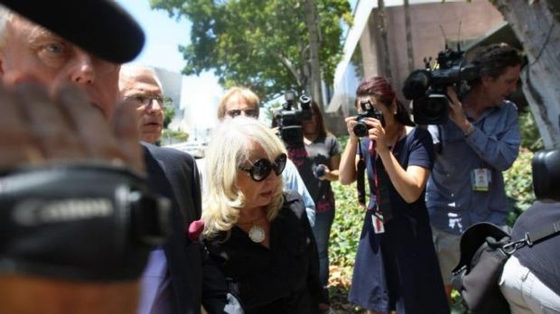 Shelly Sterling arrives with her attorney Pierce O'Donnell (L) ay Los Angeles Superior Court.