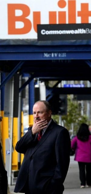 Boral boss Mike Kane arrives at the royal commission.