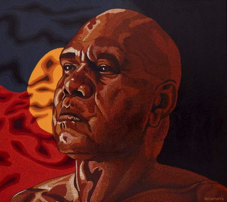 Jandamarra Cadd, 'Proud'. Portrait of Archie Roach.