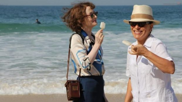 Beach time: Miranda Otto and Gloria Pires in Reaching for the Moon.
