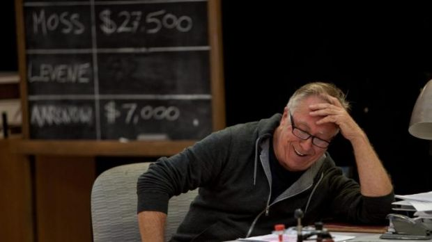 Steve Bisley, in rehearsal for the MTC production of Glengarry Glen Ross. Bisley, who left the production due to ...
