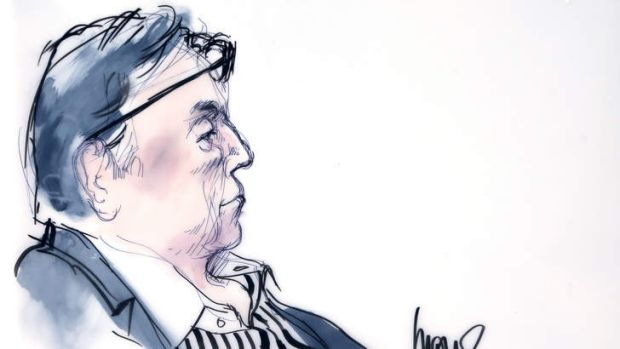 Los Angeles Clippers co-owner Donald Sterling is seen in court in this courtroom sketch in Los Angeles, California, July ...