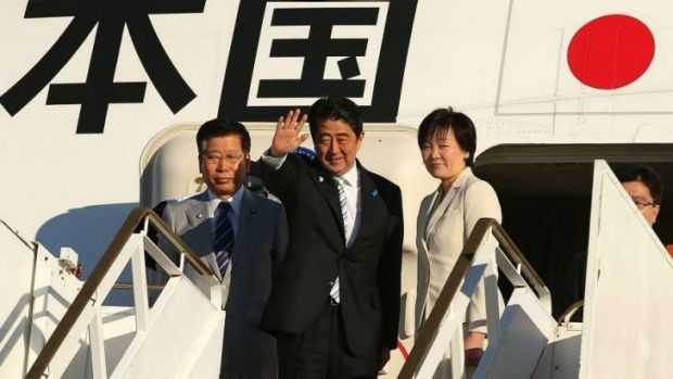 Visit lifted tensions with China: Shinzo Abe and his wife big farewell to Australia.