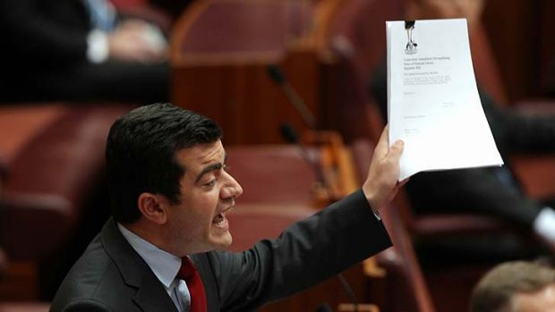 """We were forced to"": Senator Sam Dastyari was able to get the regulations tabled by use of an elaborate ruse."