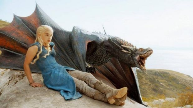 Winner ... Emilia Clarke as Daenerys Targaryen in 'Game of Thrones', which received 19 Emmy nominations.