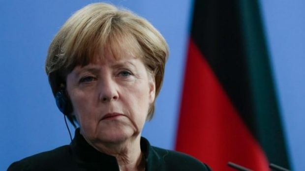 "Not impressed ... German Chancellor Angela Merkel says that the the US and Germany had ""very different approaches"" ..."