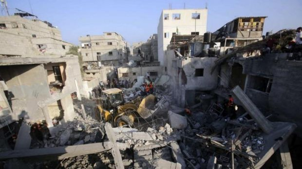 Air strikes have been pounding Gaza for days.