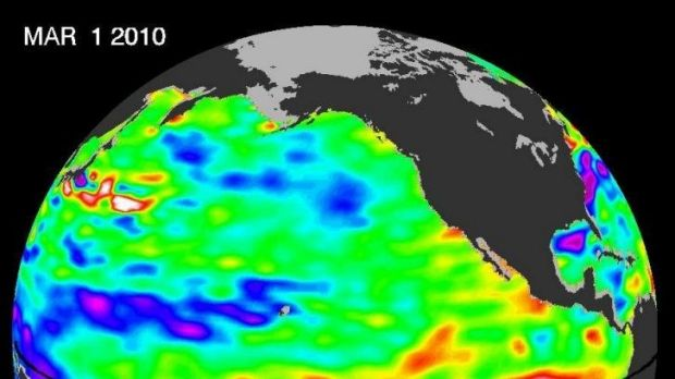 The most recent El Nino (2009-10).