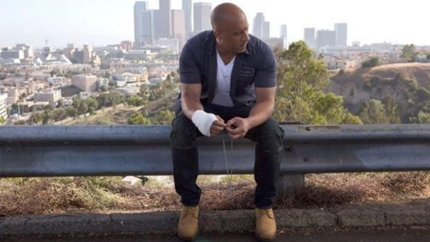 Vin Diesel, in a photo posted alongside a very candid message from the Fast & Furious 7 producers.