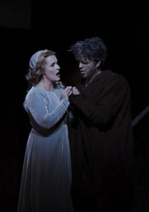 Emma Matthews and Giorgio Caoduro in Rigoletto, a triumph for Opera Australia in the Joan Sutherland Theatre.
