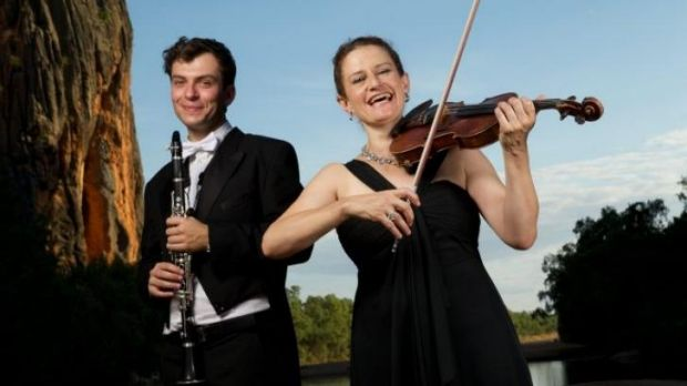 Making music: Kirsten Williams, associate concertmaster and Alexei Dupressoir, from the Sydney Symphony Orchestra  in ...