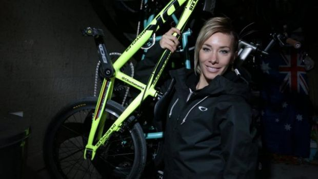 World BMX champion Caroline Buchanan.