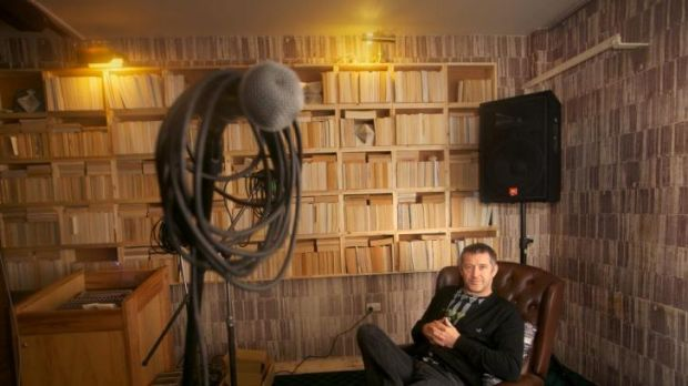 Stewart Russell at his Book Room at Bakehouse Studios.