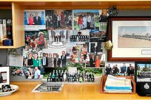 Julie Bishop's photos in her office at Parliament House.