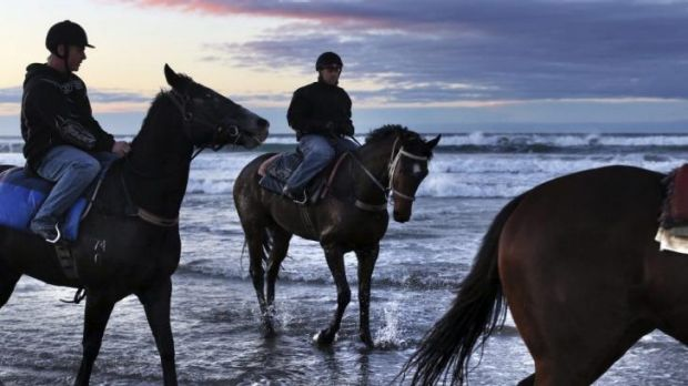 Adventure: King's Officer on Seven Mile Beach where he attempted to swim to New Zealand.