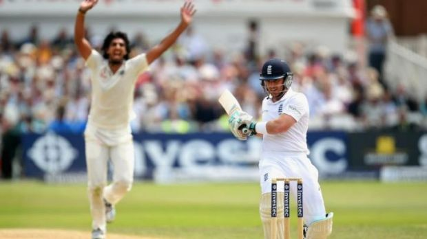 Ishant Sharma ripped through England's middle order including the wicket of Ian Bell.