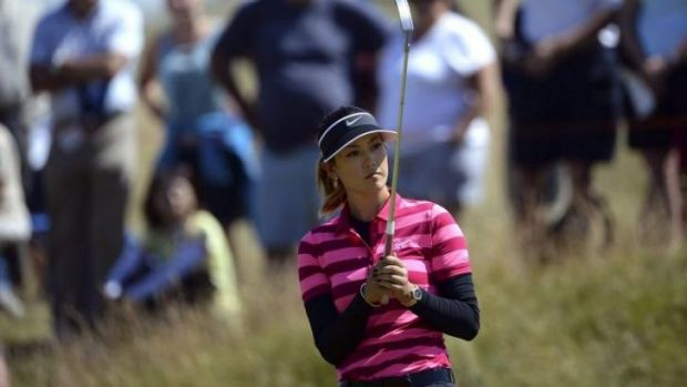 Rough ride: US Open champion Michelle Wie missed the cut.